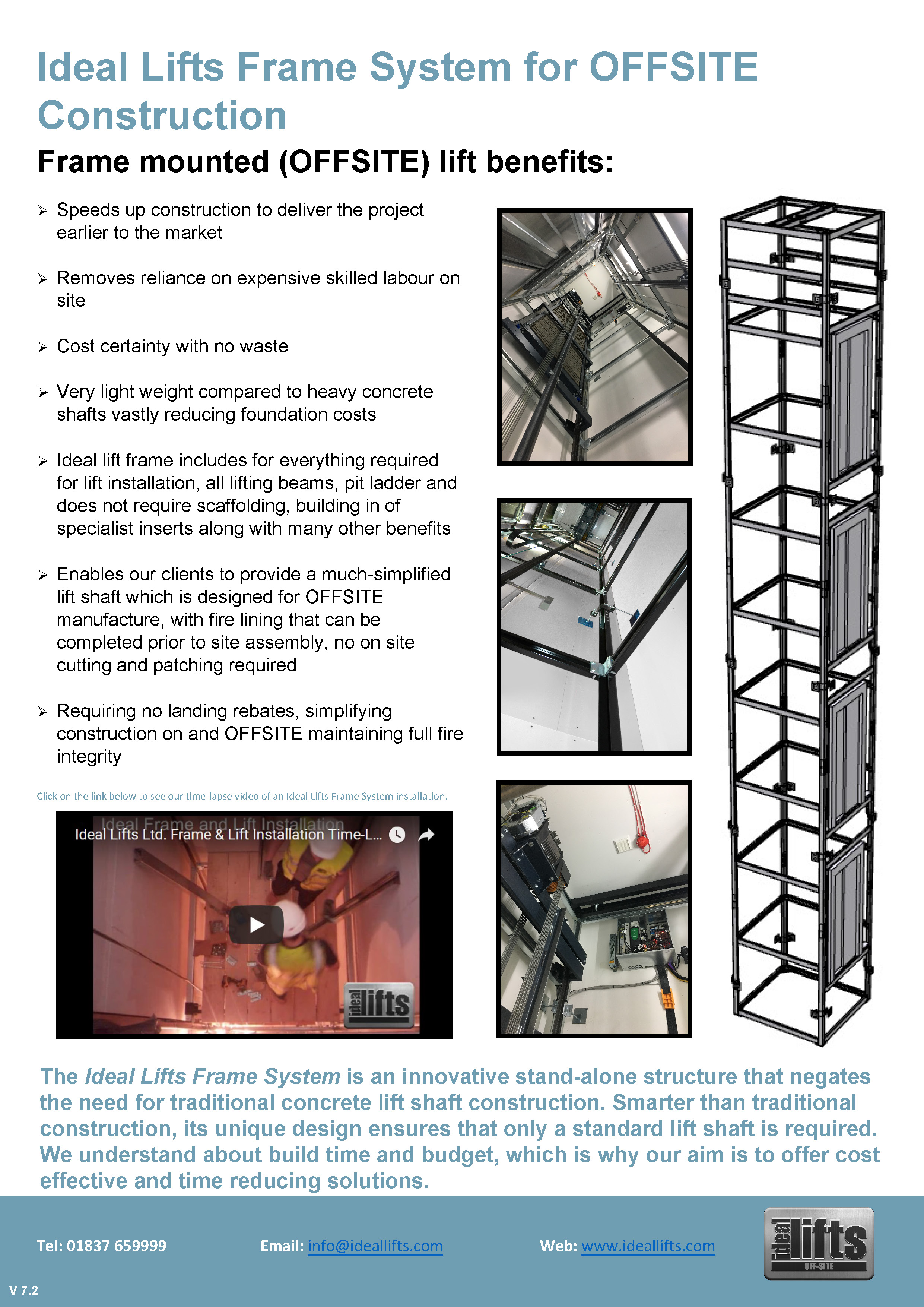 Ideal Lifts Frame System for OFFSITE