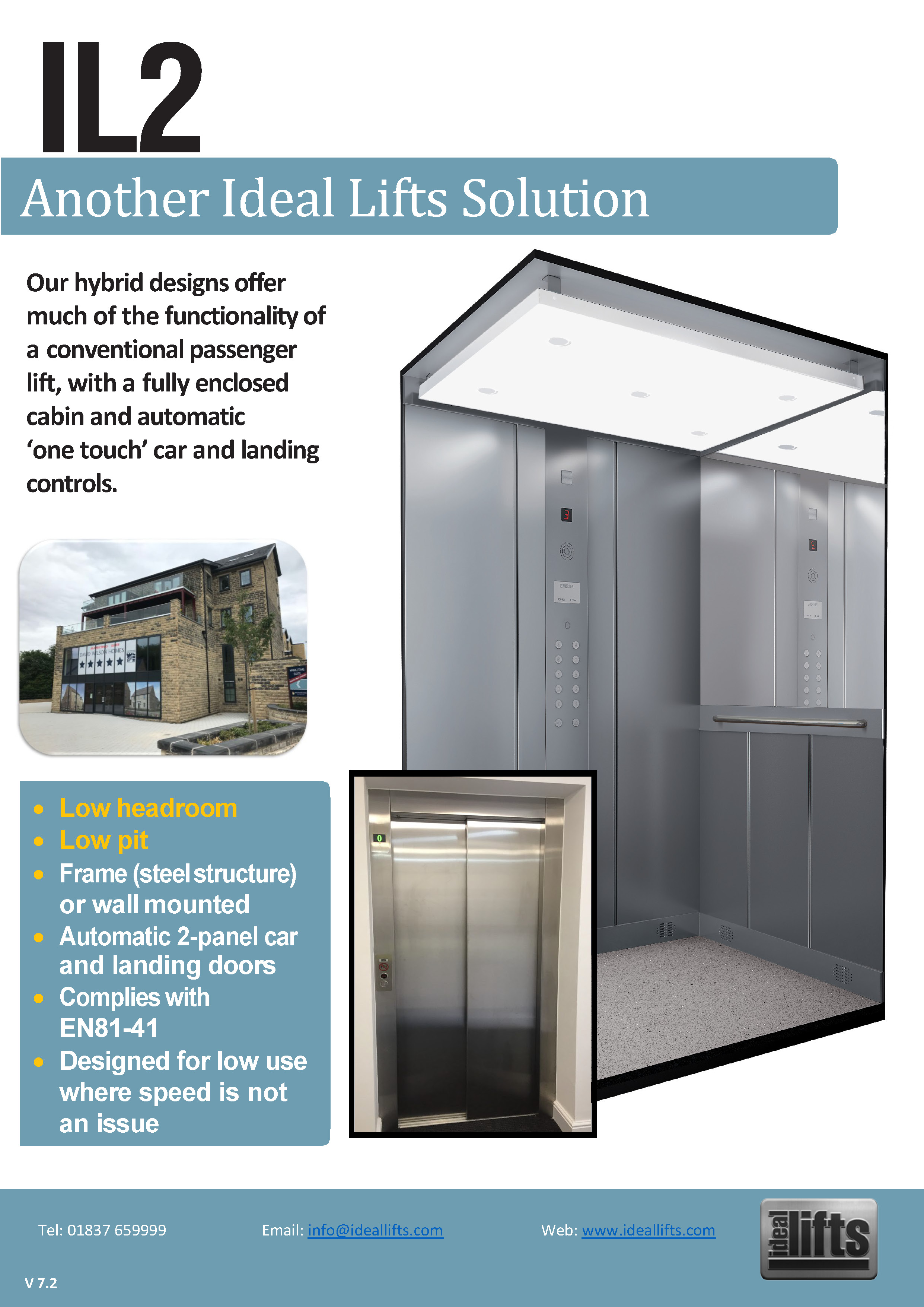 Ideal Lifts IL2 Hybrid designs, platform lift